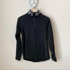 PINK Victoria's Secret black 1/4 zip pullover